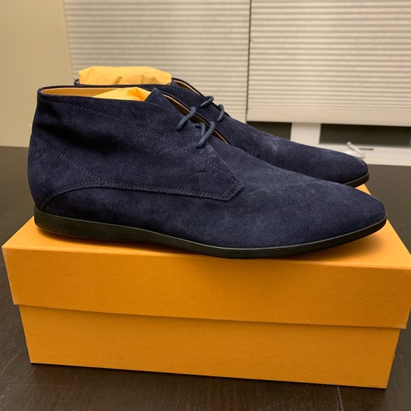 New Tods Chukka Boot Navy Suede Leather